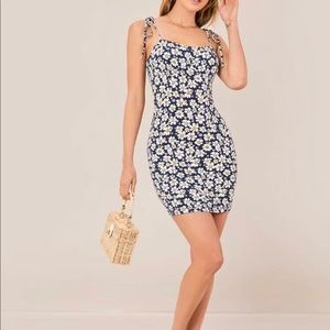 NWT Floral Self Tie Mini Dress